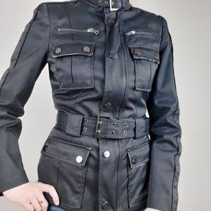 Zara Black fitted jacket belted jacket